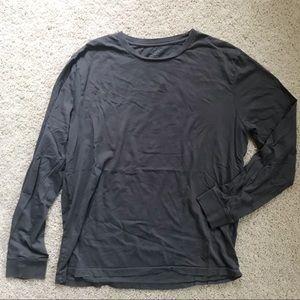 J Crew Gray Long Sleeve Shirt